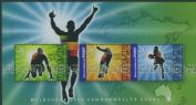 AUS SGMS2599 Commonwealth Games, Melbourne (2nd issue) miniature sheet